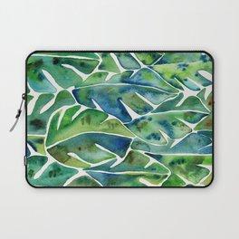 Split Leaf Philodendron – Green Laptop Sleeve