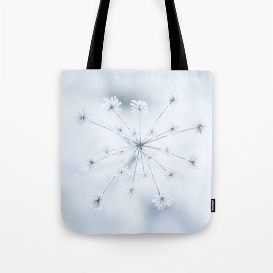 Beautiful Dry Flower with Ice Crystals Tote Bag
