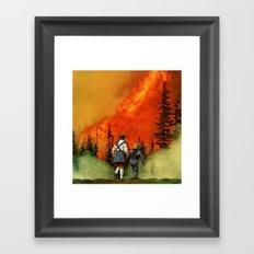forest fire (2012) Framed Art Print
