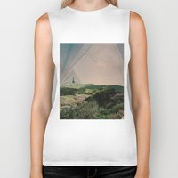 camping Biker Tanks featuring Sky Camping by Ffion Atkinson
