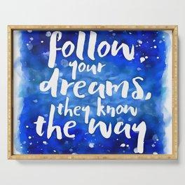 Dreams Know Serving Tray