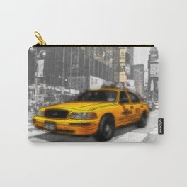 Yellow Cab at the Times Square Carry-All Pouch