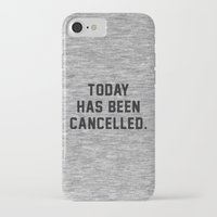 xbox iPhone & iPod Cases featuring Today has been Cancelled by Text Guy