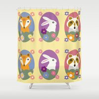 woodland Shower Curtains featuring Woodland by LeaLea Rose