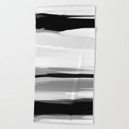 Soft Determination Black & White Beach Towel