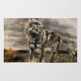Wolf totem steppenwolf Rug