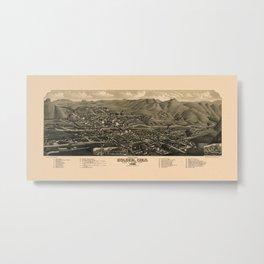 Map Of Golden 1882 Metal Print