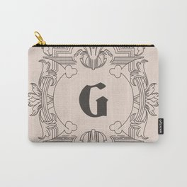 Noble G Vintage Heritage Monogram - Letter G Initial Carry-All Pouch