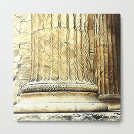 Columns of the Sacred Temple Metal Print