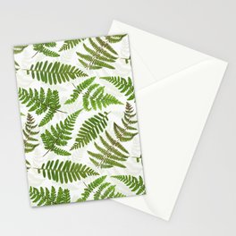 Dried And Pressed Fern Leaves Midsummer Forest Meadow  Stationery Cards