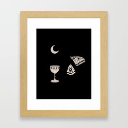 Moon Moth Chalice Framed Art Print