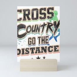 Runner Cross Country Go the Distance Running Addict Mini Art Print