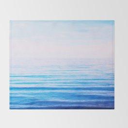 sea white&blue Throw Blanket