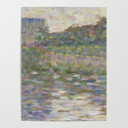 The Seine at Courbevoie Poster