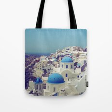 Blue Domes II, Oia, Santorini, Greece Tote Bag