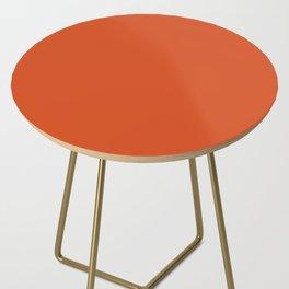 Solid Retro Orange Side Table