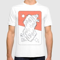 Lion Card White MEDIUM Mens Fitted Tee