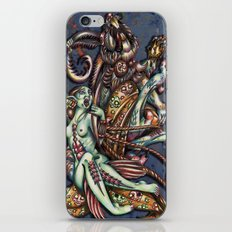 Mentalice and the White Rabbit iPhone & iPod Skin