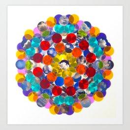 rainbow cloud cluster collage Art Print