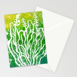 Summer Herbs, abstract floral Stationery Cards