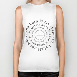 Psalms 23: The Lord is my shepherd Biker Tank