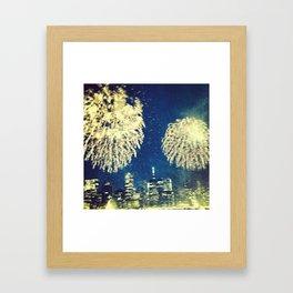 4th of July in Brooklyn Framed Art Print