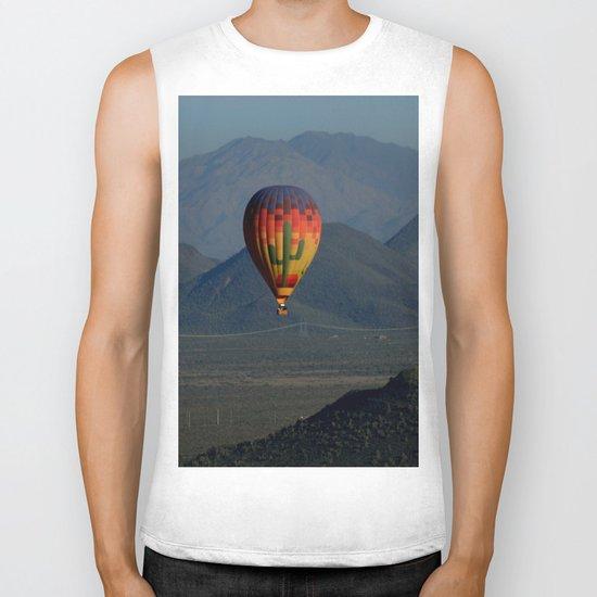 Hot Air Balloon over Arizona Morning Biker Tank