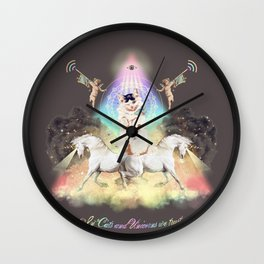 In Cats and Unicorns we trust Wall Clock