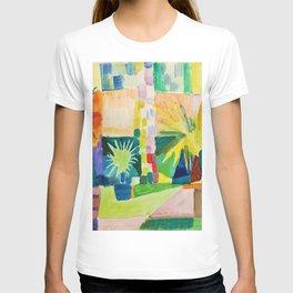12,000pixel-500dpi - August Macke - Garden On Lake Thun - Digital Remastered Edition T-shirt