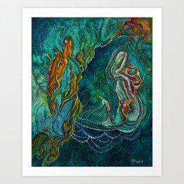 The viridian hourglass Art Print