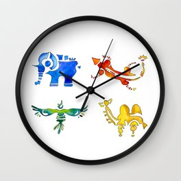 Zelda Breath of The Wild Watercolor Painting Wall Clock