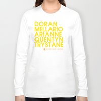 martell Long Sleeve T-shirts featuring Doran Martell Typography series II by P3RF3KT