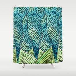 Mermaid Print Shower Curtain
