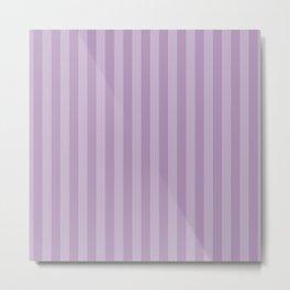 Stripes (Parallel Lines, Striped Pattern) - Purple Metal Print