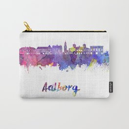 Aalborg skyline in watercolor Carry-All Pouch