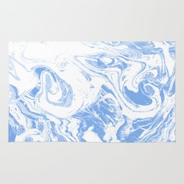 Suminagashi japanese spilled ink watercolor painting minimalist abstract marble marbling Rug