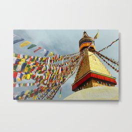 Boudhanath stupa in Nepal Metal Print