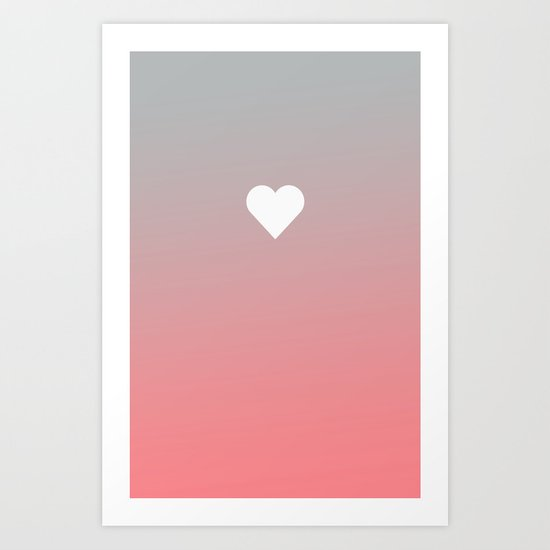 Apple Heart iPhone case Rose Peach Fade Art Print