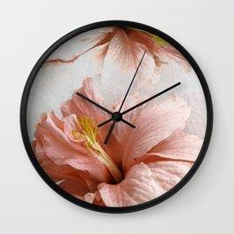 Blossom, Pink Flowers Wall Clock