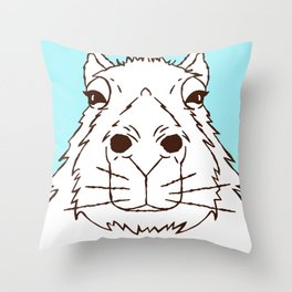 Cool as a Capybara Throw Pillow