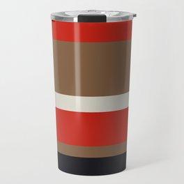 Dusty White Bitter Fawn Band Travel Mug