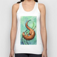 otter Tank Tops featuring Otter by Georgia Roberts