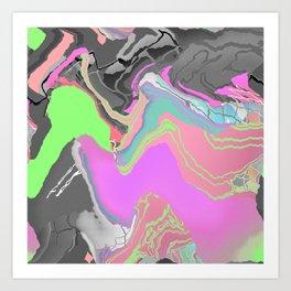 Meshwave Art Print