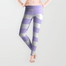 Lavender Purple Gross Stripes Leggings