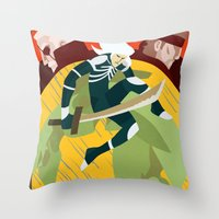 metal gear solid Throw Pillows featuring Metal Gear Solid 2: Sons of Liberty by Monserratt