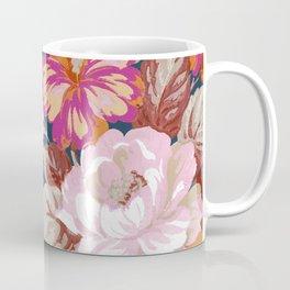 Vintage Floral on Blue Coffee Mug