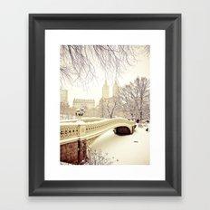 New York City Snow Wonderland Framed Art Print