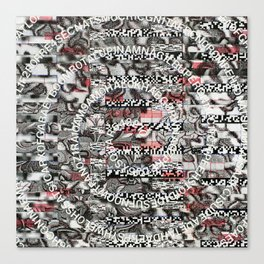 Creating Circumstances 4 Error 2 Fill the System with Meaning (P/D3 Glitch Collage Studies) Canvas Print