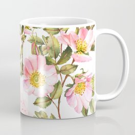 Hydrangea, forget me not, roses watercolor pattern Coffee Mug