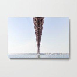 25 de Abril Bridge Metal Print